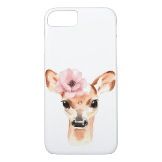 Doe Deer with Flower Case-Mate iPhone Case