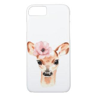 Doe Deer with Flower iPhone 8/7 Case