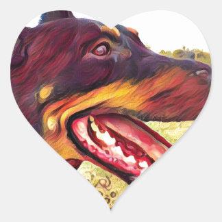 Doerman Swirl Paint 3 Heart Sticker