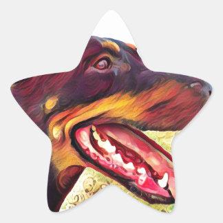 Doerman Swirl Paint 3 Star Sticker