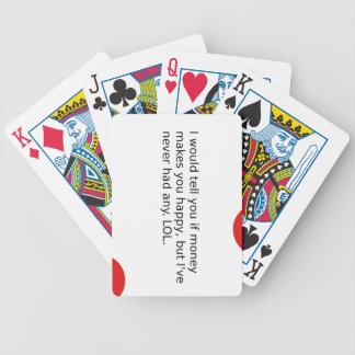 Does Money Make You Happy? Bicycle Playing Cards