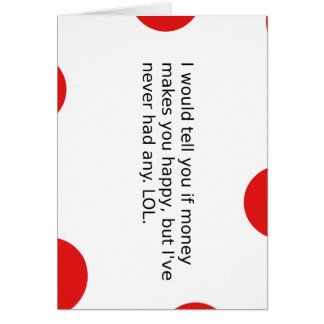 Does Money Make You Happy? Card