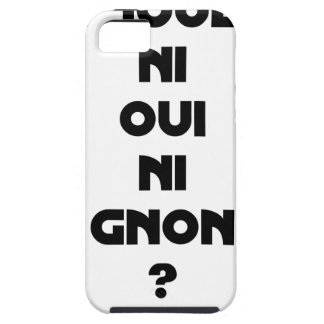 DOES ONE PLAY NEITHER NOR THUMP YES? - Word games iPhone 5 Case