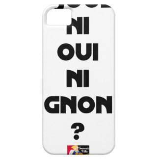 DOES ONE PLAY NEITHER NOR THUMP YES? - Word games iPhone 5 Cover