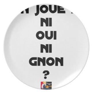 DOES ONE PLAY NEITHER NOR THUMP YES? - Word games Plate