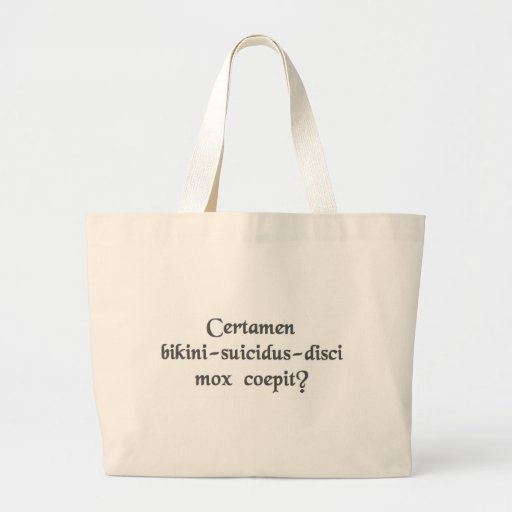 Does the Bikini-Suicide-Frisbee match start soon? Tote Bag