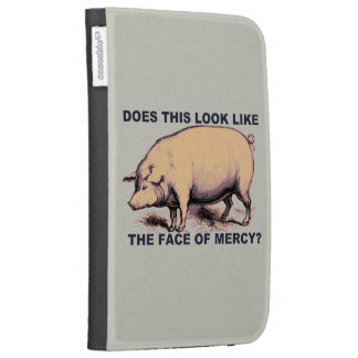 Does This Look Like The Face of Mercy?  Grumpy Pig Kindle Keyboard Case