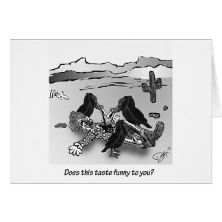 Does this taste funny to you? greeting card