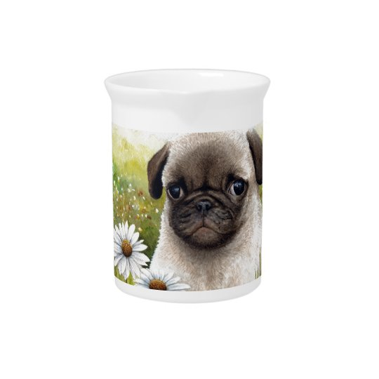 Dog 114 Puppy Pug Pitcher