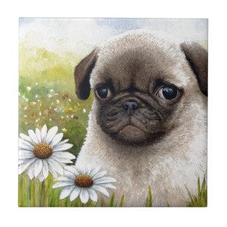 Dog 114 Puppy Pug Tile
