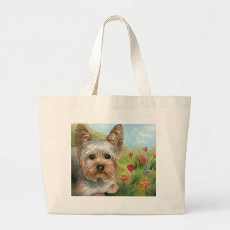 Dog 117 Yorkshire Large Tote Bag