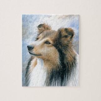 Dog 122 Sheltie Collie Jigsaw Puzzle