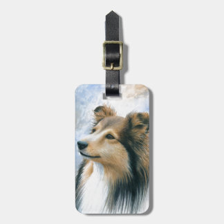 Dog 122 Sheltie Collie Luggage Tag