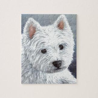 dog 137 white westie jigsaw puzzle