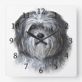 Dog 138 Shih Tzu Square Wall Clock