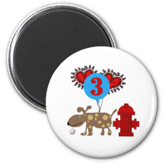 Dog 3rd Birthday Magnet