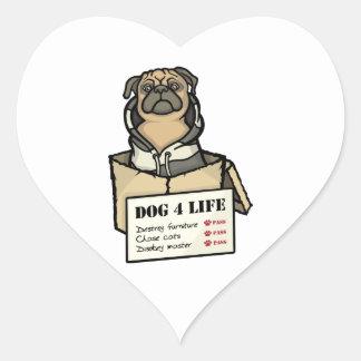 Dog 4 Life Heart Sticker