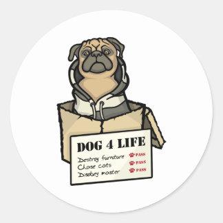 Dog 4 Life Round Sticker