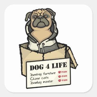 Dog 4 Life Square Sticker