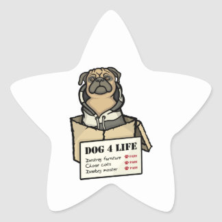 Dog 4 Life Star Sticker