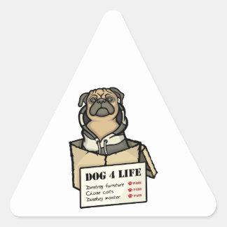 Dog 4 Life Triangle Sticker