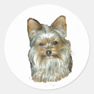 Dog 4B,Yorkshire Terrier,Stickers Round Sticker