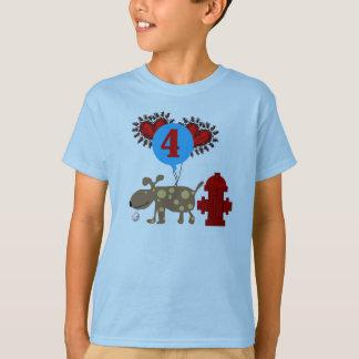 Dog 4th Birthday T-Shirt