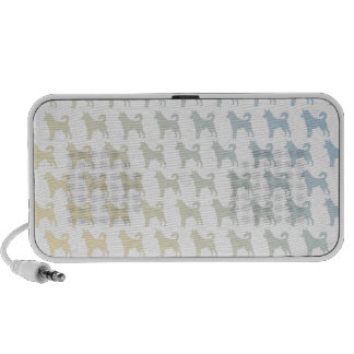 Dog 50/50 sunset laptop speakers