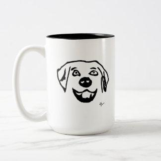 Dog - Adolf Lorenzo Two-Tone Coffee Mug
