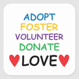 Dog Adopt Foster Volunteer Donate Love Sticker