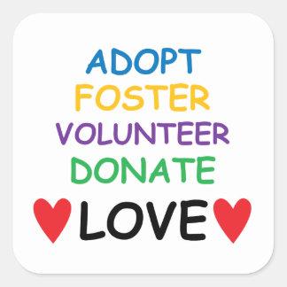 Dog Adopt Foster Volunteer Donate Love Sticker
