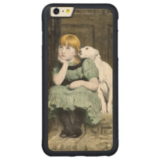 Dog Adoring Girl Victorian Painting Carved® Maple iPhone 6 Plus Bumper Case