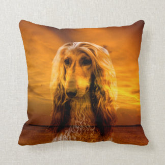Dog Afghan Hound Throw Pillow