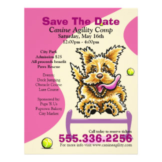 Dog Agility Competition Benefit Event Ad Purple Flyers