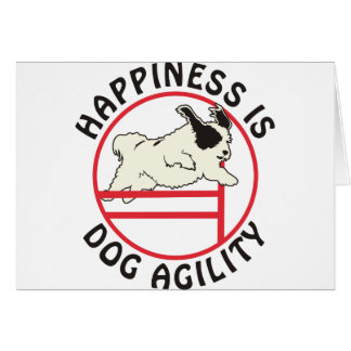 Dog Agility Happiness Card