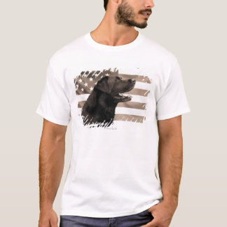 Dog and American flag T-Shirt