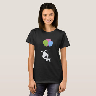 Dog And Baloon Cute Funny T-Shirt