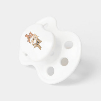 Dog and bone 2 pacifiers