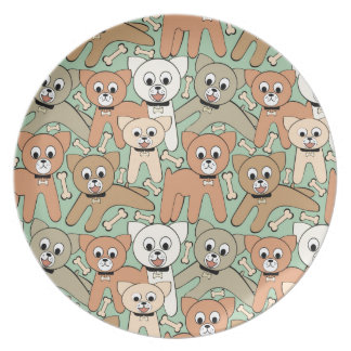 Dog and bone dinner plates