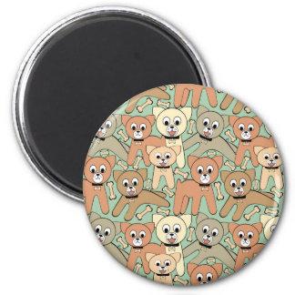 Dog and bone magnet