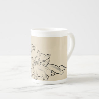 Dog and cat as cup