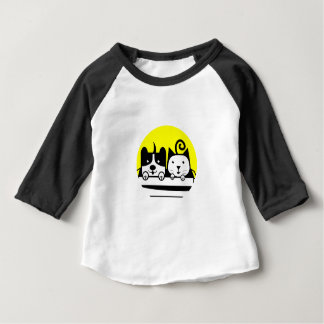 dog and cat baby T-Shirt