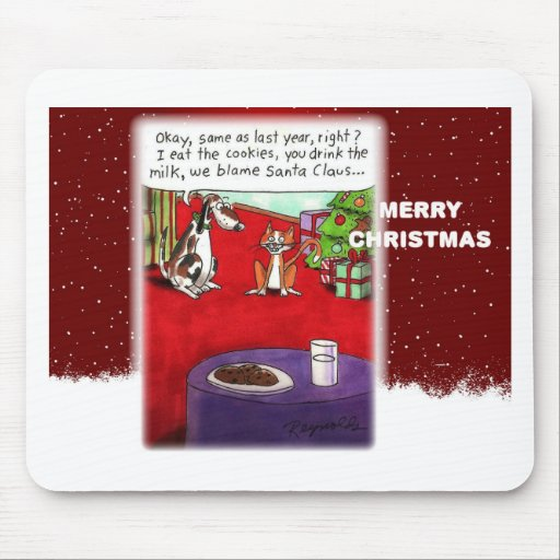 Dog and Cat Cookie Thieves Mousepad