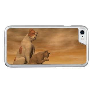 Dog and cat friendship - 3D render Carved iPhone 7 Case
