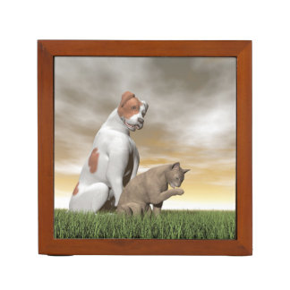 Dog and cat friendship - 3D render Desk Organizer
