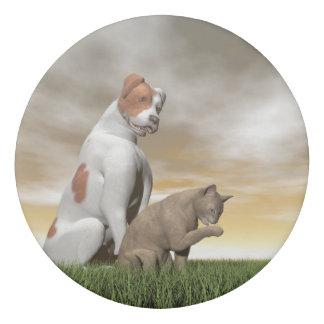 Dog and cat friendship - 3D render Eraser