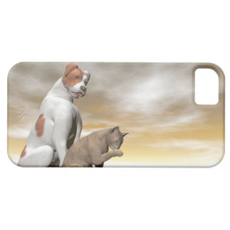 Dog and cat friendship - 3D render iPhone 5 Covers