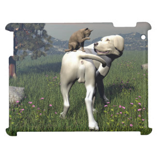 Dog and cat friendship case for the iPad