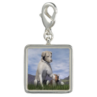 Dog and cat friendship charm