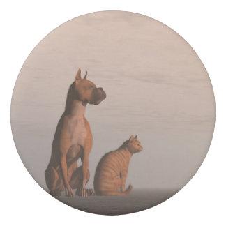 Dog and cat friendship eraser